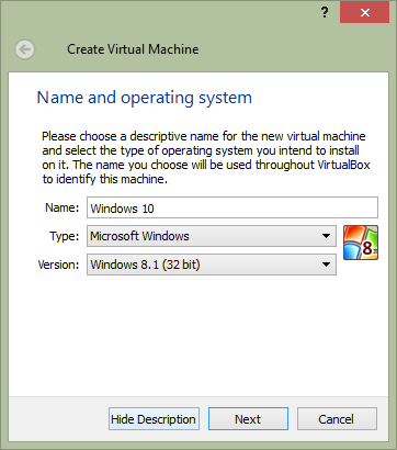 windows 10 in virtualbox