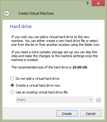 partitionare hard virtualbox