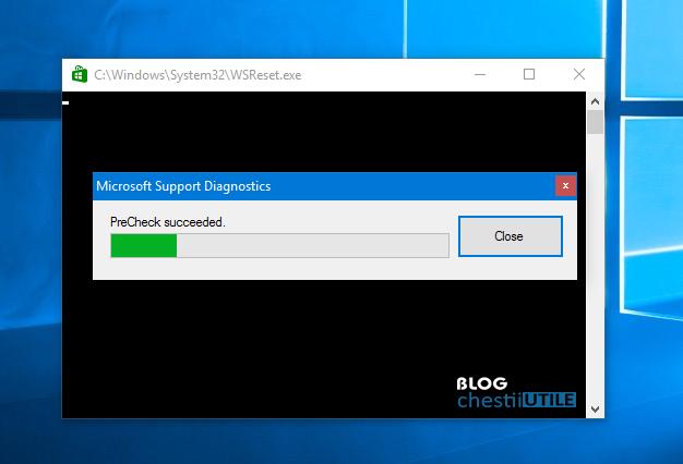 tool Microsoft pentru resetare Windows Store